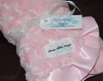 Minky  Baby Blanket- Pink Swirl Lovey