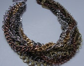 Harley 2- Chunky Multi Chain Necklace by Ashlee Designs on Etsy