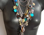 Chloe- Vintage Charm Necklace by Ashlee Designs on Etsy