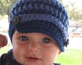 Newsboy Crochet Hat Infant/Toddler