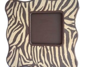 Brown Tiger Print Curvy Picture Frame