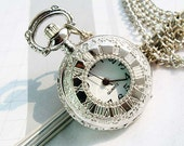 1pcs Silver plated   Watch Charms Pendant with chain ty142937
