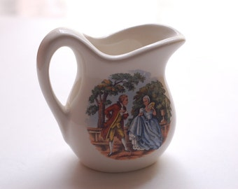 Courting Love Mini Colonial Pitcher Ceramic