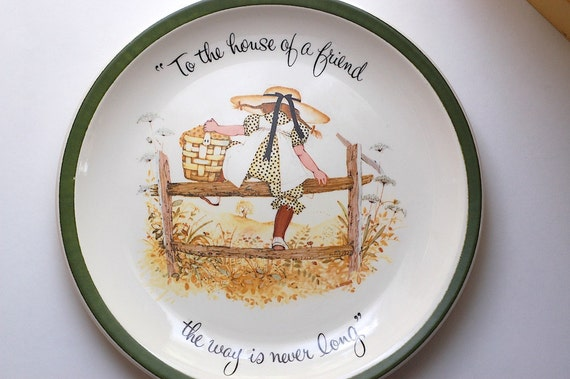 Vintage Holly Hobbie House of A Friend Collectors Edition Plate