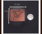 Letterpress : Unusual Copper Printers Block - Small Derringer