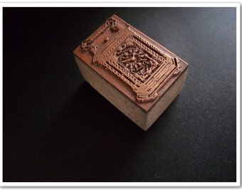 Copper Printers Block : Vintage Style French Carriage Clock
