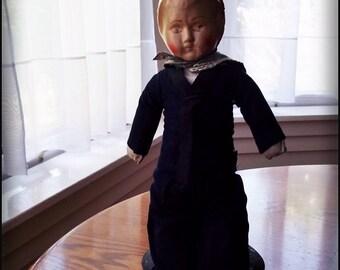 Vintage Doll, Vintage Boy Doll, Antique  Sailor Doll : Sale Item