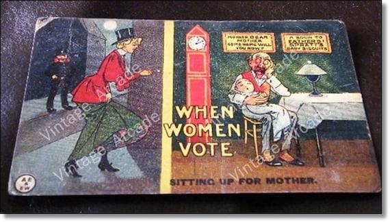 OLD Rare Suffragette Propaganda Postcard Super 1907 :104 years old