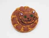 Ginger Cat felt pin badge