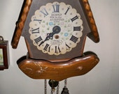 Reserved for Poseyrosey - Vintage 1970s New England Clock Co. Chalet Clock