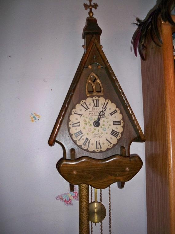 Vintage 1960s New England Clock Co. Chalet Clock
