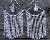 Sterling silver chain dangle earrings