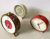 3 Vintage Alarm Clocks