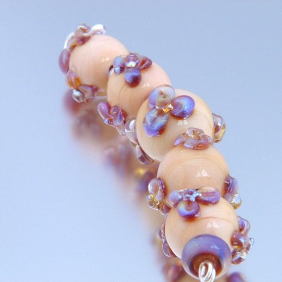 Violet Handmade Lampwork Beads FHFteam y3