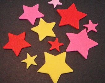 Edible Fondant Stars for Cupcake Toppers, or Cake Decorations
