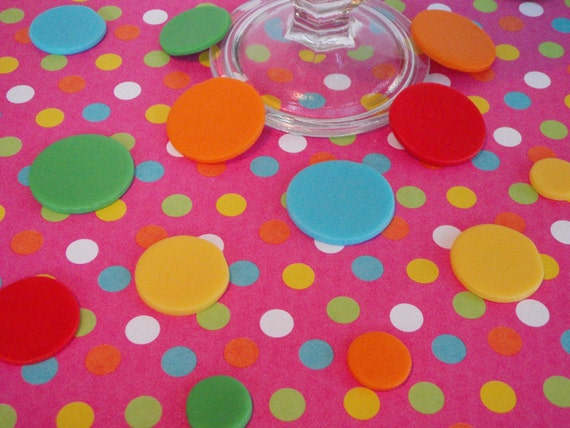 Edible Fondant Polka Dots Circles Rounds by ...