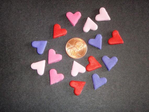 Tiny Edible Fondant Hearts set of 260 custom order for Angela M