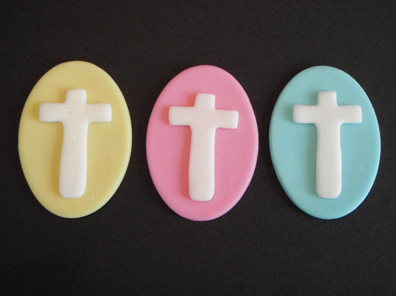 Cross Fondant Cupcake or Cake Topper Great for Baptism