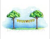 Banner of love ... cute art print wall art