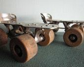 Vintage Chicago Roller Skate Company metal skates