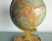 RESERVED. Vintage J Chein and Co tin globe