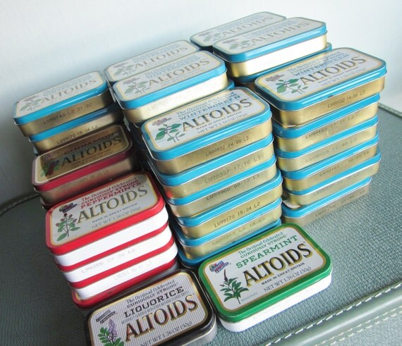SALE Lot of 54 Altoids mint tins for supply mixed media repurpose altered art or upcycle