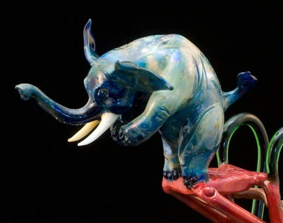 High Dive Glass Elephant, FREE SHIPPING