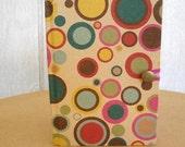 vintage 60s mod diary journal book ledger unused  gidget  mod colorful circles