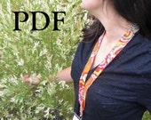 Two Style Lanyard Sewing PDF Pattern, Thumbprint Patterns, Standard and Quick Release