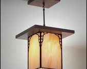 Mission Style Hanging Lantern - Antique Style