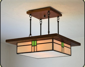 Arts and Crafts Style Light Fixture