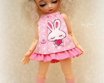 PINK Kawaii Rabbit set for Yo-SD LittleFee
