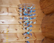 Shades of Blue Dragonfly Mobile