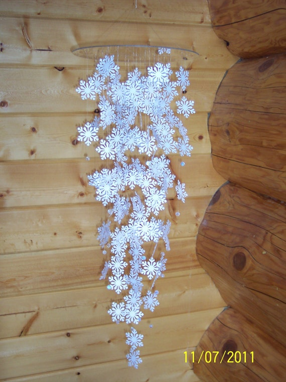 Large White Snowflake  Mobile