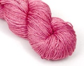 BFL Silk Fingering Yarn in Pink Lemonade