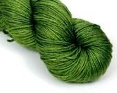 BFL Silk Fingering Yarn in Grass Stain