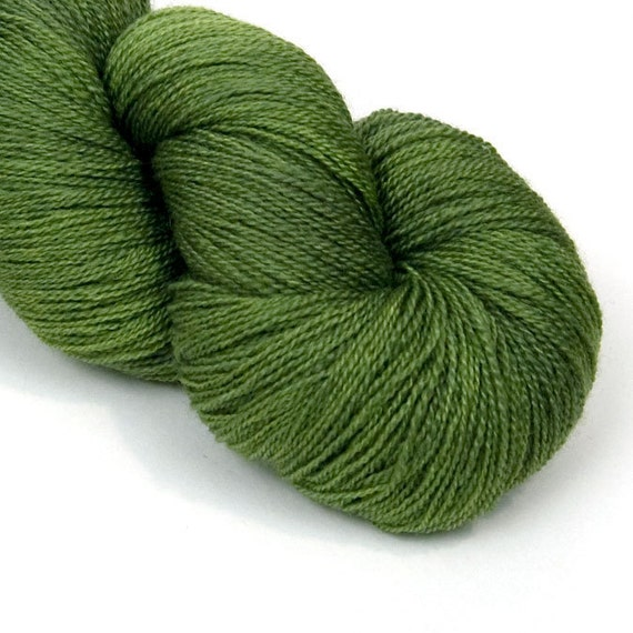 BFL and Silk Lace Heaven Yarn in May Leaves