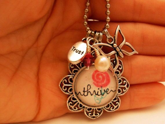 Necklace - Thrive - Trust - Butterfly - Flower