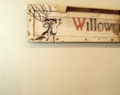circa 1900 antique trade sign with deer willowcrest health farm