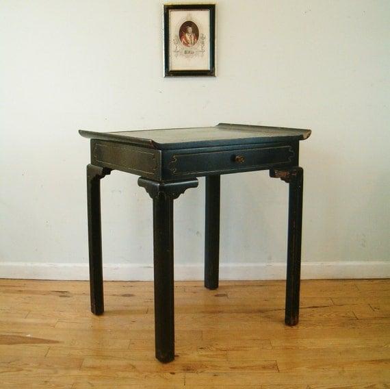 circa 1950 asian modern leather top desk