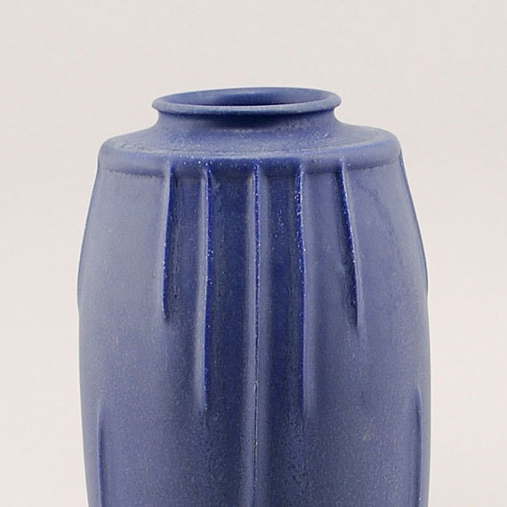 Product Development Vase in Arts and Crafts Blue by Door Pottery- Art Deco Style- Handmade Art Pottery