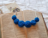 Cobalt Posie Necklace