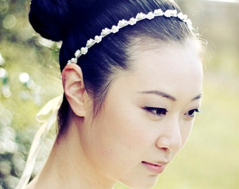 BELLA - Pearl and Rhinestone Bridal Headband