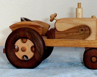 Handcrafted Wooden Tractor