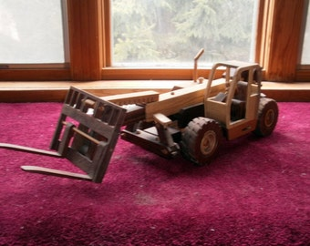 Construction highlift wooden collectible handcrafted