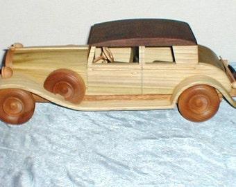 1934 Buick Sedan Handcrafted Wooden