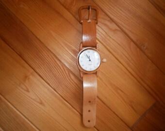 Cherry Wooden Watch Handcrafted