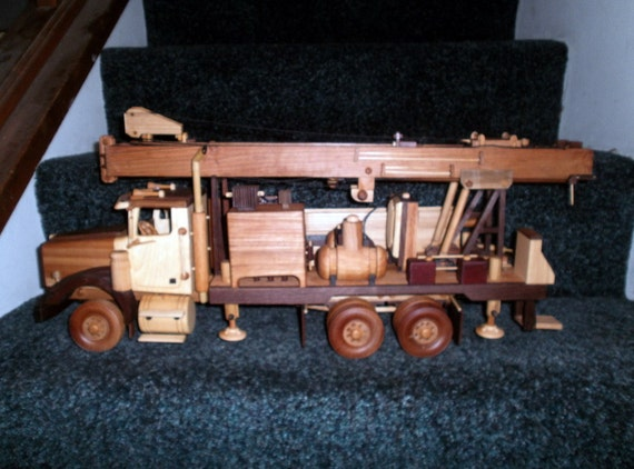 Well Driller Replica Handcrafted Wooden FREE SHIPPING