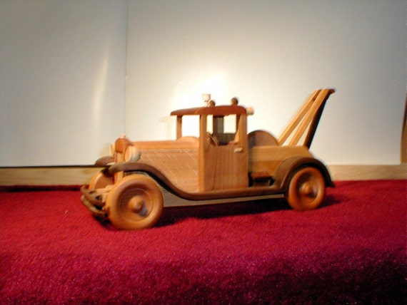 1929 Wrecker Handcrafted Wooden