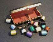 Vintage Mini Traveling Sewing Case circa 1960